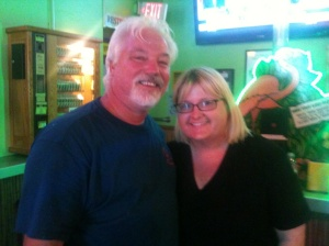 Schooner with Julie Nevius, manager of Tropical Isle on Bourbon Street, New Orleans.